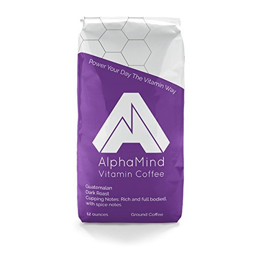 AlphaMind Vitamin Coffee Guatemalan - The Best Dark Roast Coffee With Added Vitamins and Minerals