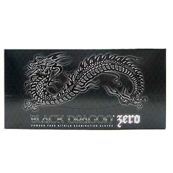 Black Dragon Zero Nitrile Body Easy Grip Piercing & Tattoo Artists Medium - Body Dragon