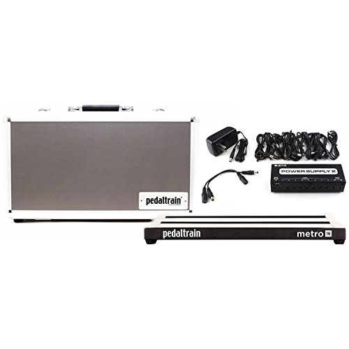 "Pedaltrain Metro 16 3-RAIL 16"" x 8"" PEDALBOARD w/Hard Case and Joyo JP-02 Power Supply"