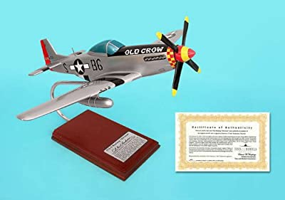 A0624 Executive Desktop P51D Mustang Old Crow Signed Model