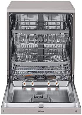 (Renewed) LG 14 Place Settings Dishwasher (DFB424FP, Platinum Silver)