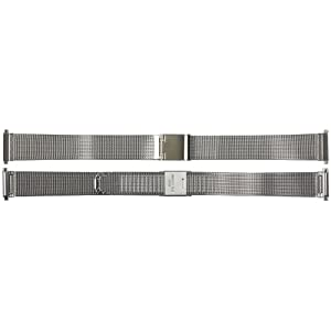 US Jewels And Gems New Ladies 12mm - 15mm Stainless Steel Watch Bracelet Band