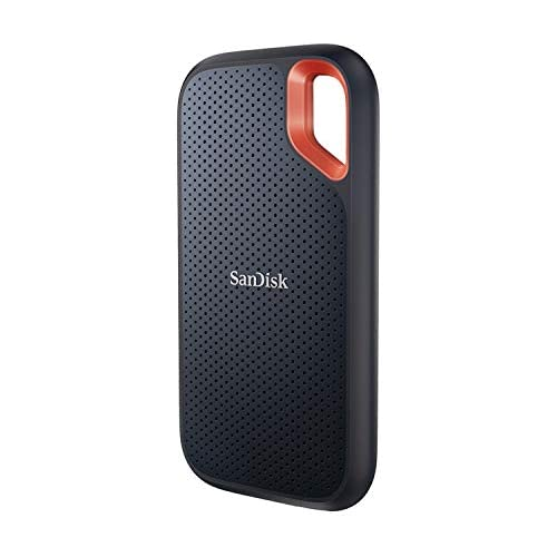chollos oferta descuentos barato SanDisk Extreme SSD portátil SSD 500 GB hasta 1050 MB s NVMe USB C resistente al agua y al polvo orificio para mosquetón