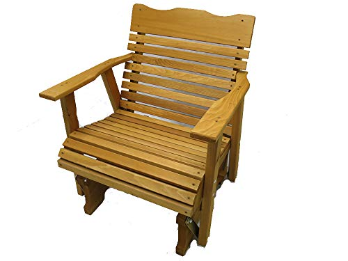 Cheap Kilmer Creek 2' Cedar Porch Glider W/stained Finish, Amish Crafted