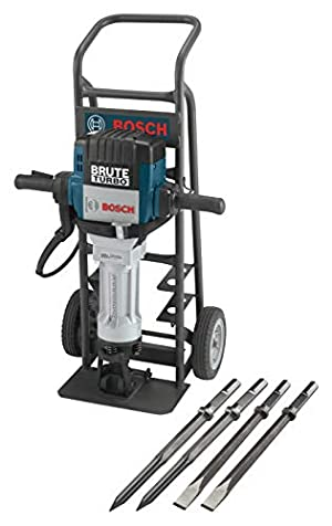 Bosch BH2770VCD 120-Volt 1-1/8 Hex Breaker Hammer Brute Turbo Deluxe Kit & HS2161 20 In. Moil Point 1-1/8 In. Hex Hammer Steel