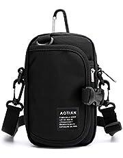 Small Shoulder Bag for Men Women Newly Designed Waterproof Belt Waist Pouch Crossbody Cell Phone Travel Purse Bag Blue