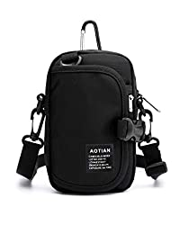 Small Shoulder Bag for Men Women Newly Designed Waterproof Belt Waist Pouch Crossbody Cell Phone Travel Purse Bag Black