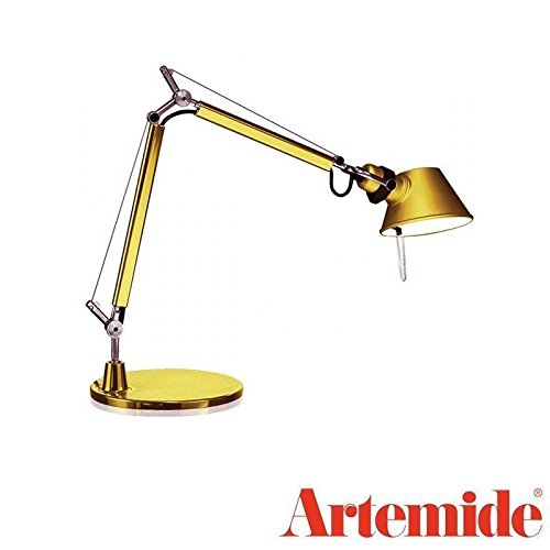 (Artemide TOLOMEO Micro Gold Table Lamp LED BULB INCLUDED Design Italy 1987)