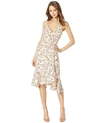 Cami Ruffle Hem Dress Ivory Ditsy Floral X-Small ()