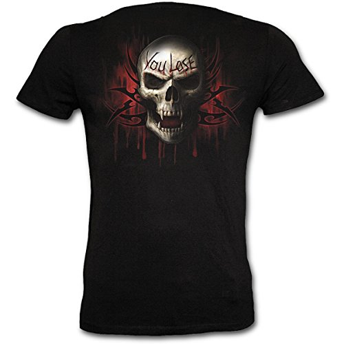 Game Over T-Shirt tailliert Gothic Biker Style