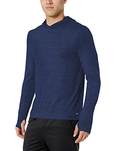 - Amazon Essentials Men's Tech Stretch Long-Sleeve Performance Pullover Hoodie, Navy Space dye, X-Large