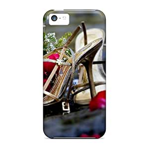 Cute Appearance Cover/tpu HHAFZlL7291uWQOm High Heels Roses Case For Iphone 5c