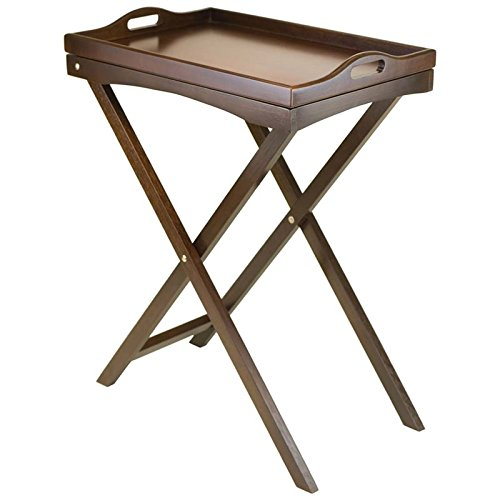 Winsome Wood Devon Butler TV Edibles with Serving Tray