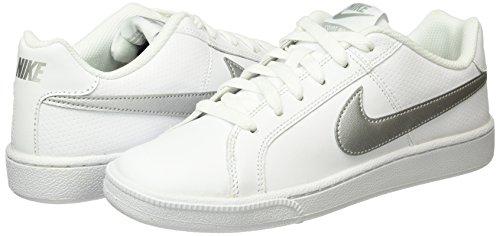 white Wmns 100 Bianco Donna Sportive Nike Silver Metallic Court Royale Scarpe q4cv05W