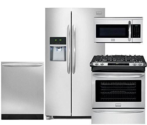 Frigidaire Slide In Range (Frigidaire Gallery 4-Piece Smudge-Proof Stainless Steel Package, FGHC2331PF 36
