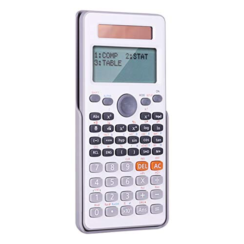 Financial Calculators Dual Line Large Screen Display Scientific Calculator Dual Power Function Calculator (for Small Junior High School) White Black Standard Function (Color : White) (Application Of Permutation And Combination In Real Life)