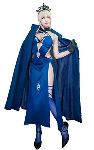Nuoqi Arturia Pendragon Cosplay Costume Womens Fate Stay Night Saber Alter Anime Uniforms Swimsuit