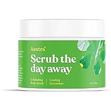 "ASUTRA Organic Exfoliating Body Scrub -""COOLING CUCUMBER"" - 100% Pure Dead Sea Salt Scrub/Ultra Hydrating & Moisturizing with SKIN SMOOTHING Jojoba, Sweet Almond & Argan Oils - 12oz"