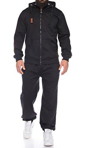 Finchman Finchsuit 1 Herren Jogging Anzug Trainingsanzug Sportanzug FMJS135, Black, 3XL