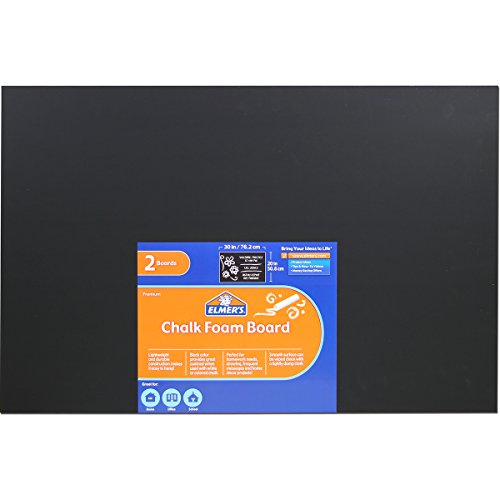 elmers-x-acto-chalk-foam-boards-2030-black-pack-of-2-950189