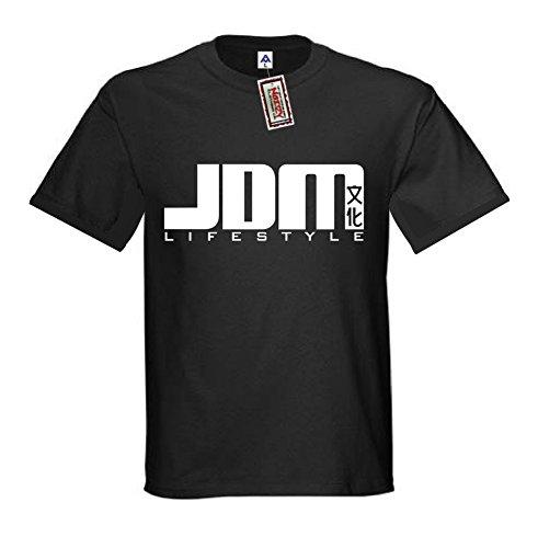 (JDM #15 Lifestyle JDM Shirt Import T-Shirt Black Street Racing Gear 2XL XXL)