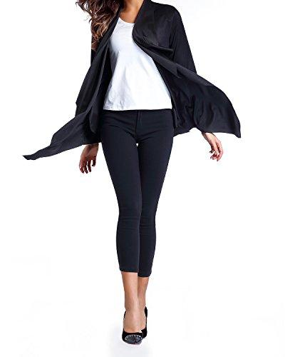 StyleDome Mujer Chaqueta Cardigna Otoño Mangas largas Moda Retro Deporte Oficina Elegante Chica Azul