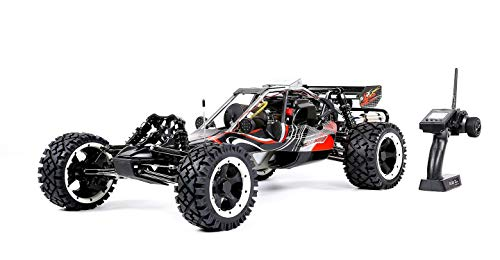 (MZL Remote Car 1:5 high with Adult Fuel Remote Control car Model Rock Crawler/Double Row Silencer Exhaust Pipe / 45cc Single Cylinder/Four Fixed Gasoline Engine (LxWxH:)