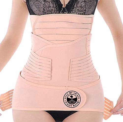 3 in 1 Postpartum Girdle Support, Recovery Belly Band, Corset Wrap, and Body Shaper for After-Birth, Postnatal C-Section, Waist Training, Belly Control, and Pelvis Shape wear - (Nude, XX-Large)
