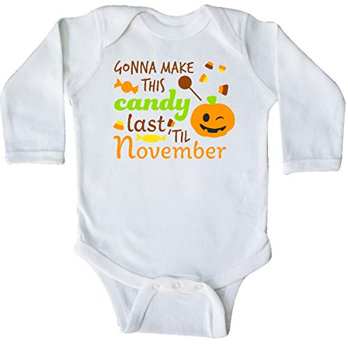 inktastic - Gonna Make This Candy Last Long Sleeve Creeper 12 Months White -