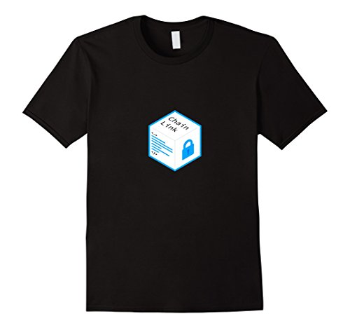 Mens ChainLink Logo T-Shirt Small Black (Chain Link T-shirt)