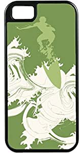 iPhone 4 4S Cases Customized Gifts Cover Abstract artistic man surfing in green ocean Case for iPhone 4 4S by icecream design