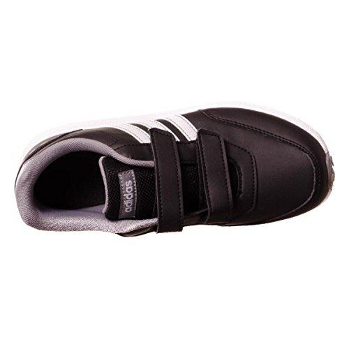 adidas Unisex-Kinder Vs Switch 2 CMF C Fitnessschuhe, Weiß Rosa, 30 EU Schwarz (Negbas / Ftwbla / Gritre)