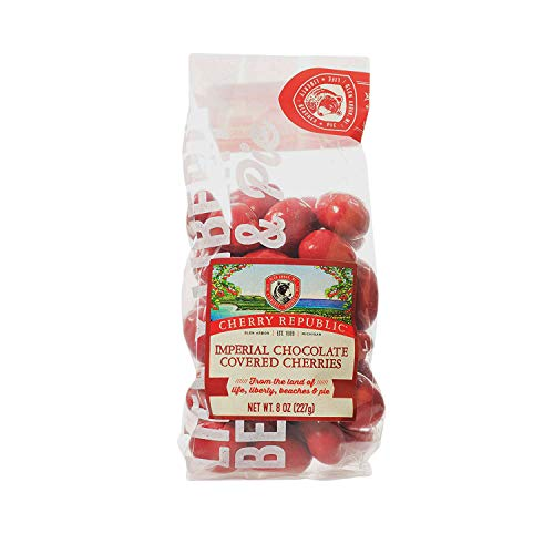 Cherry Republic Chocolate Cherries - Authentic and Fresh Imperial Chocolate Covered Cherries Straight from Michigan - Milk Chocolate and Red Cherry Chocolate, 8 Ounces