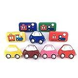 Vita Hardware Soft Rubber Children Cabinet Wardrobe Cupboard Knob Drawer Cartoon Dresser Door Pulls Handles Car Pack of 6
