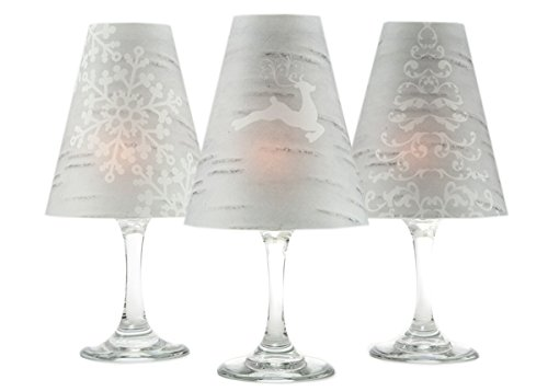 di Potter WS430 Holiday Birch Paper White Wine Glass Shade, White (Pack of -