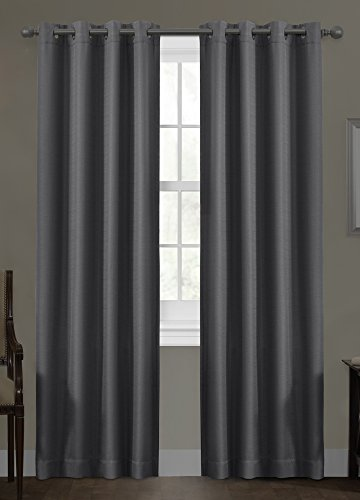 Certified 100 Percent Blackout Maytex Smart Curtains Ultimate Light Blocker Sheridan Window Panel, 50 x 84, Grey (Blocker Light)