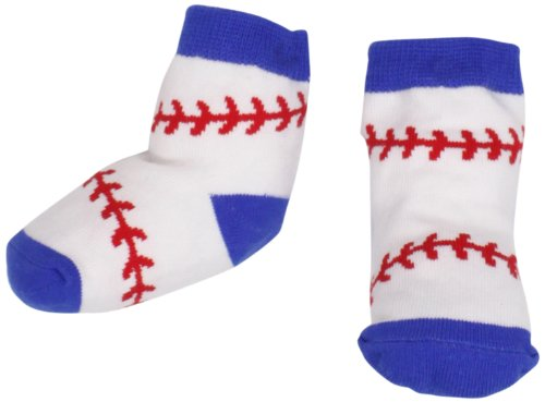 Mud Pie Baby Boy Sock Set, Baseball, 0-12 Months