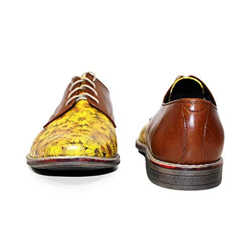 Modello Pour Cuir Hommes Vachette Des Chaussures Handmade Brun Lacer Souple De Italiennes Oxfords Seamsone aRnqrwSa