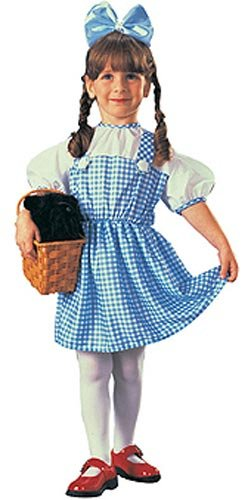 Wizard of Oz Dorothy Costume, Sky Blue / White, Toddler (Sizes 2-4 / Ages 1-2) -