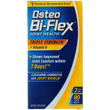 Osteo Bi-Flex Triple Strength + Vitamin D, Coated Tablets 80 ea (Pack of 10)