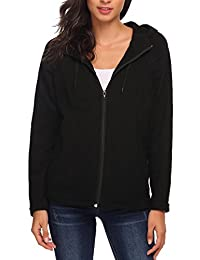 Meaneor Women's Full Zip Fleece Hooded Jacket Hoodie Coat with Pockets