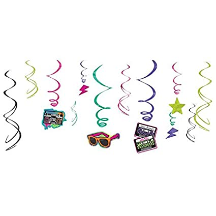 80s Value Pack Party Swirl Decorating Kit
