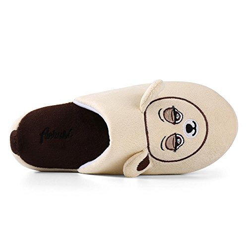 Aerusi Mom Dad Kid Familia Zapatilla Beautiful Comfory House Zapatillas De Interior Slip-on Soft Cálido Dormitorio Calzado Brown Bunny