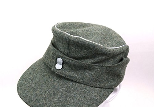 Replica WWII German Officer M43 WH EM field Panzer Wool Cap Hat Green (L(58cm))