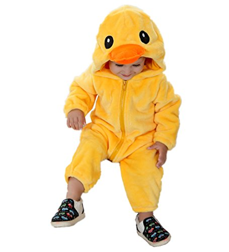 JOYHY Unisex Baby Infant Fluffy Rompers Cute Animal Costume Outfits Duckling (Duckling Costume)