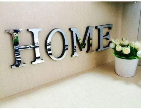 DIY 4 Letters Love Furniture Mirror Wall Sticker Decorative Art Wedding Decor