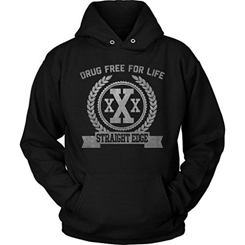 Straight Edge Drug Free XXX Punk Hardcore Hoodie Sweatshirt