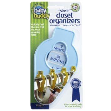 Baby Buddy Size-It Closet Organizers, Blue