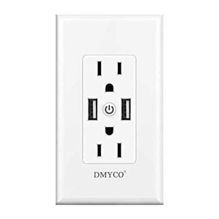 WiFi Smart Wall Outlet,Top Bottom Outlets are Independently Controllable,Duplex Receptacle Socket,Compatible with Alexa Dot Echo Plus Google Assistant IFTTT, No Hub Required 1