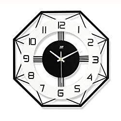 Modern Creative Wall Clock, European Style Silent Not-Ticking Hanging Clock, Big Easy to Read for Office Home Living Room Decorative-a 50x50cm(20x20inch)